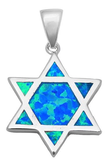 Pingente Estrela De Davi Prata - Direito De Israel