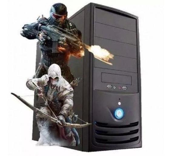 Pc Gamer Core I5 + 8gb + 1tb + Gtx 1050 Ti C/ Wi-fi Preto