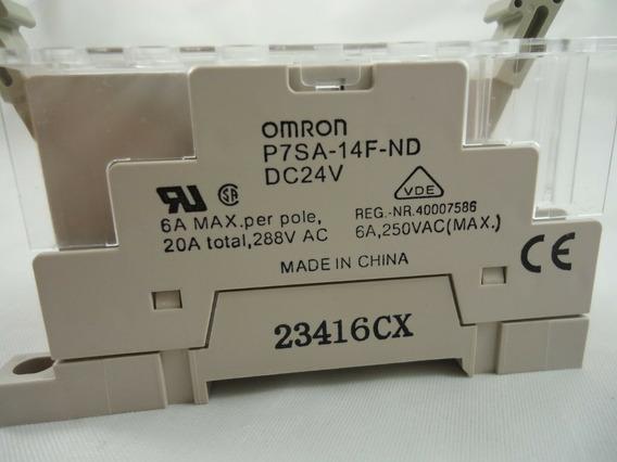 Omron G7sa-4a2b Relay 24vdc With P7sa-14f-nd Base