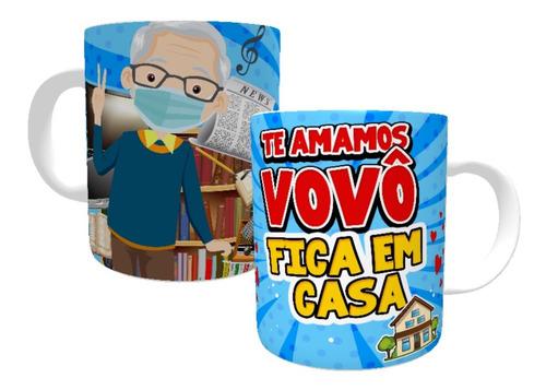 Imagem 1 de 7 de Canecas Personalizadas  Vovó  E Vovô Fica Em Casa !!!!