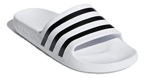 Ojota Chinela adidas Adilette Aqua Original Bco/ngo
