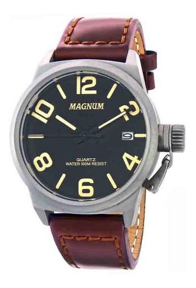 Relogio Magnum Masculino Couro Esportivo - Ma33433c