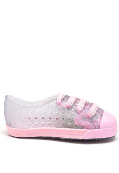 Kit Tenis Infantil Menina Com Glitter + Elásticos Coloridos