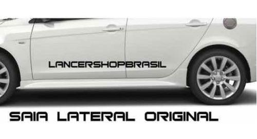 Imagem 1 de 3 de Par De Saia Lateral Spoiler Mitsubishi Lancer Soleira