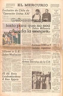 Ovnis Antiguo Diario El Mercurio 17 Junio 1980