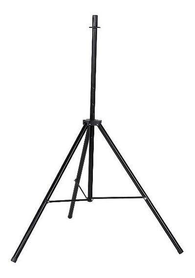 Pedestal Para Caixa De Som Tripé Preto + Suporte De Caixa