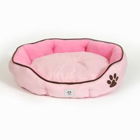 Cama Para Perro Doguiz Color Rosado Con Huella 57x52x14 Cm