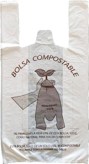 Bolsa Compostable Camiseta Grande 3 Kilos