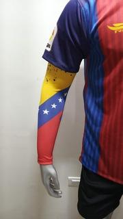 Manga Deportiva Tricolor, Venezuela. 100% Licra Importada.
