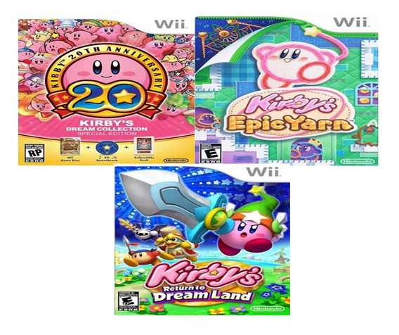 Kit 3 Dvds Kirby Collection Para Nintendo Wii