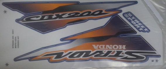 Kit Adesivos Honda Cbx200 Strada 2001 Azul