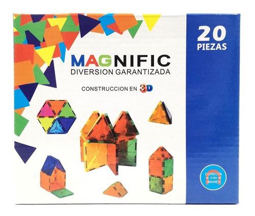 Imagen 1 de 2 de Magnific Bloques Magneticos 20 Piezas