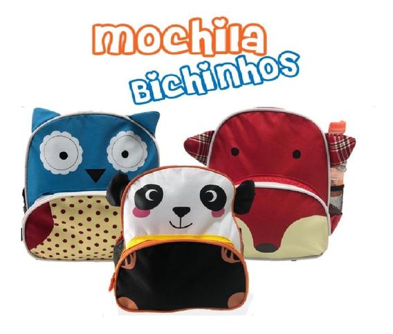 Mochila Infantil Lancheira Bichinhos Animais Varias Estampas