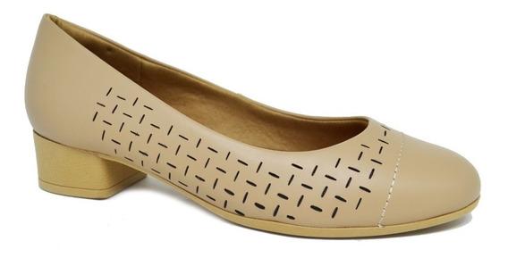 Sapato Feminino Ortopédico Usaflex Ab6805 - Bege