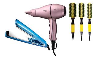 Mq Hair Profissional Secador Falcon + Prancha Titanium 450