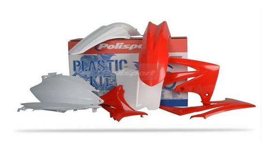Kit Plásticos Crf 250 11/13 Crf 450 11/12 Verm - Polisport