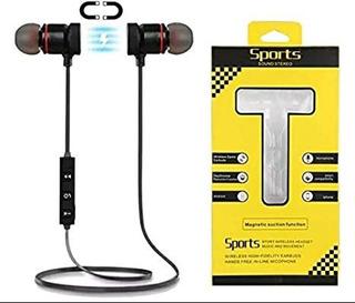 Auriculares Sport Bluetooth Imantados - Con Cable Usb Gratis