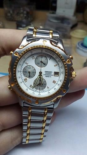 Relógio Seiko Chronograph Semi-novo Com 6 Meses De Garantia
