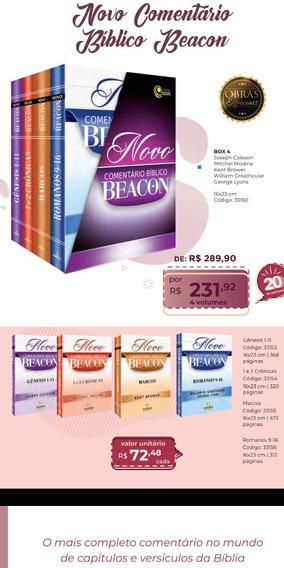 O Novo Comentáriobíblicobeacon- Box 4 Frete Gratis