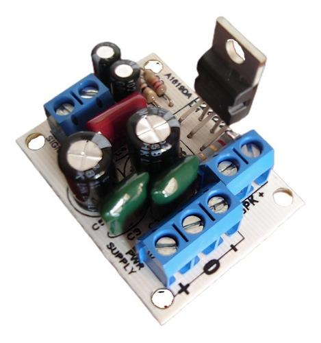 Mini Amplificador 35 W C/ Tda2050 + Fuente Trafo Y Disipador