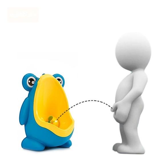 Mictorio Infantil Sapinho Troninho Penico Azul E Amarelo