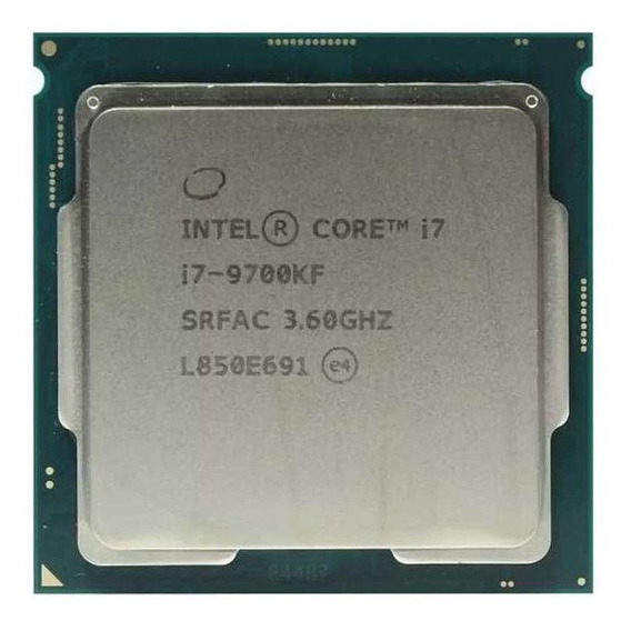 Processador gamer Intel Core i7-9700KF BX80684I79700KF de 8 núcleos e 4.9GHz de frequência
