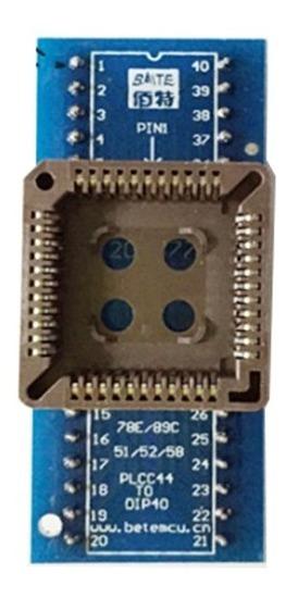 Adaptador Plcc44 Para Dip40 Programador Universal Eprom Soic
