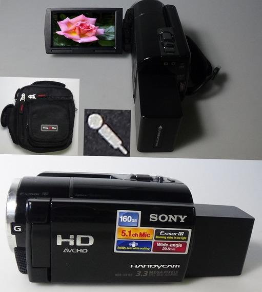 Filmadora Sony Hdr-xr160 Entrada Microfone Bolsa Full Hd