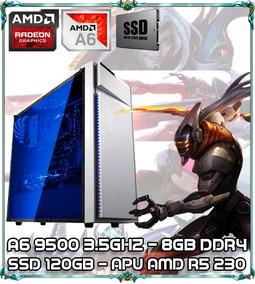 Cpu Pc Gamer A6 9500 Dualcore 3.5ghz 4gb Ddr4 Apu R5 Ssd 230