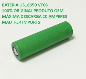 Kit 2 Baterias 18650 Vtc6 3000mah 20a Desc Oem Grátis Case