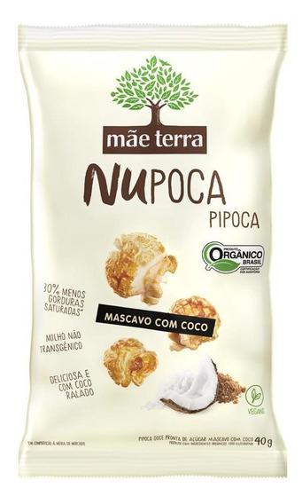 Pipoca Mae Terra Açúcar Mascavo Coco Integral E Orgânica 40g