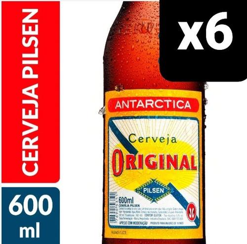 Kit Com 6 Unid Cerveja Antarctica Original 600ml