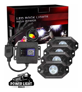 Luces Rock Light Rgb Bluetooth 4pz Rzr Jeep Can Am X3