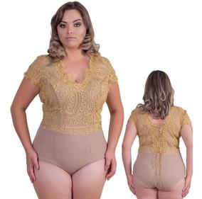 Bori, Body, Colan, Body De Renda Collante Vestido Plus Size
