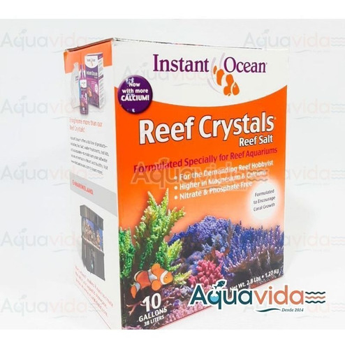 Sal Reef Crystal 38 Litros (10 Galones) Instant Ocean Para