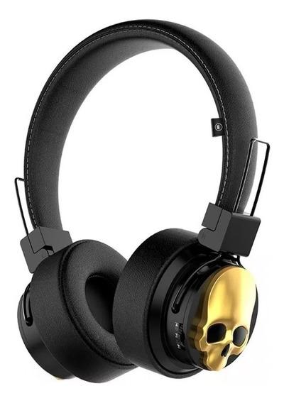 Fone Bluetooth K15 Caveira Kimaster C/ Rádio Fm - P2 E Nf-e