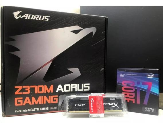 Kit Gamer, Aorus Z370m - I7 8700 - 16 Gb Ram 3200mhz