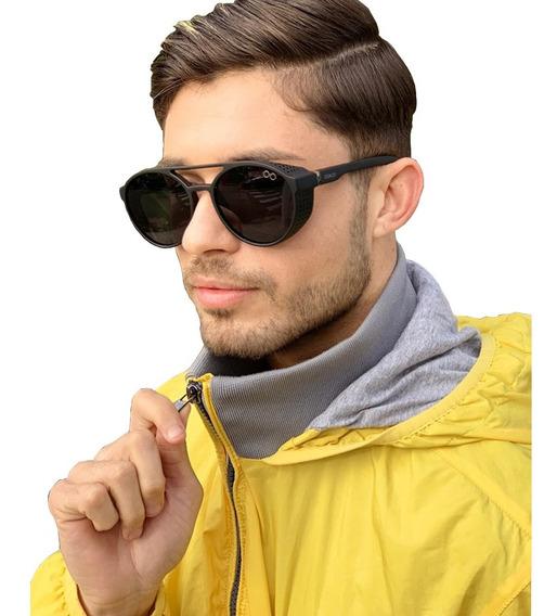 Óculos Preto Estilo Alok Redondo Masculino Feminino Moda