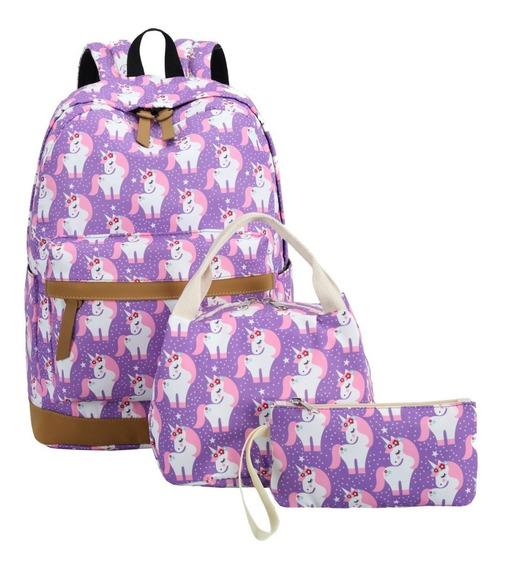 Mochila Escolar Unicornio Niñas Adolescentes Lindas Camtop