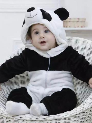 Macacão Bebê Animais Bicho Diversos Fantasia Pijama Parmalat