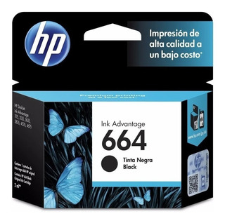 Cartucho Hp 664 Negro F6v29al Original 1115 2135 3635 4675