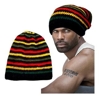 Gorro Touca De Lã Rastafari Reggae Modelo Beanie Extra Longo