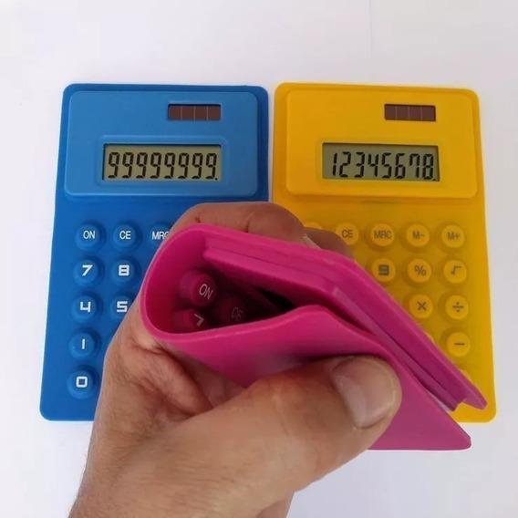 Calculadora Flexivel 10x16 Em Silicone Cores Só 25,99