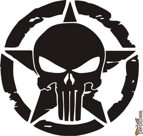 Calcomanía Punisher 03 40 X 40 Cm Graficastuning