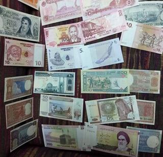 Oferta Lote 28 Billetes Del Mundo