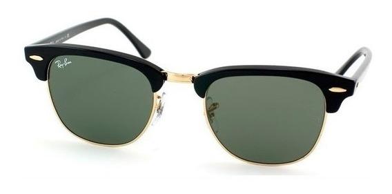 Óculos Ray Ban Clubmaster Rb3016 Verde G15 Feminino Masculin