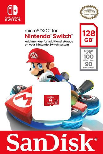 Memoria Microsd Nintendo Switch 128gb Nueva