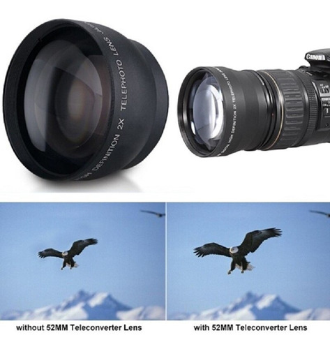 Imagem 1 de 6 de Lente Teleobjetivo Profesional De Aumento Para Cámara Nikon