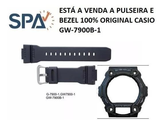 Kit Pulseira+bezel Do Relogio Casio Gw-7900b-1 100% Original
