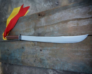 Espada Dao Chinesa Kung Fu Wing Chun Forjada